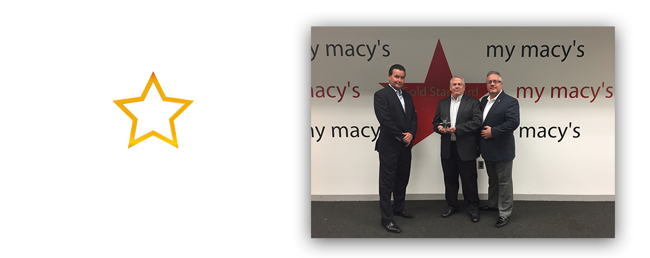 The Macy's Gold Star Award is awarded to 7P GPS.